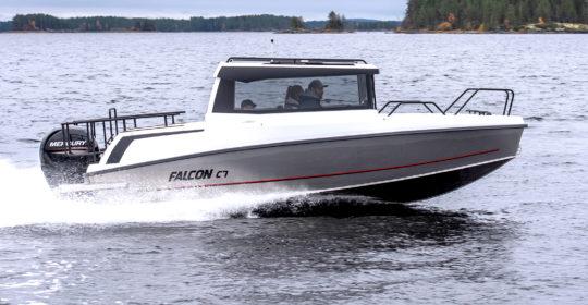 Provkör Falcon C 7 hos Flipper Marin i täby/Stockholm