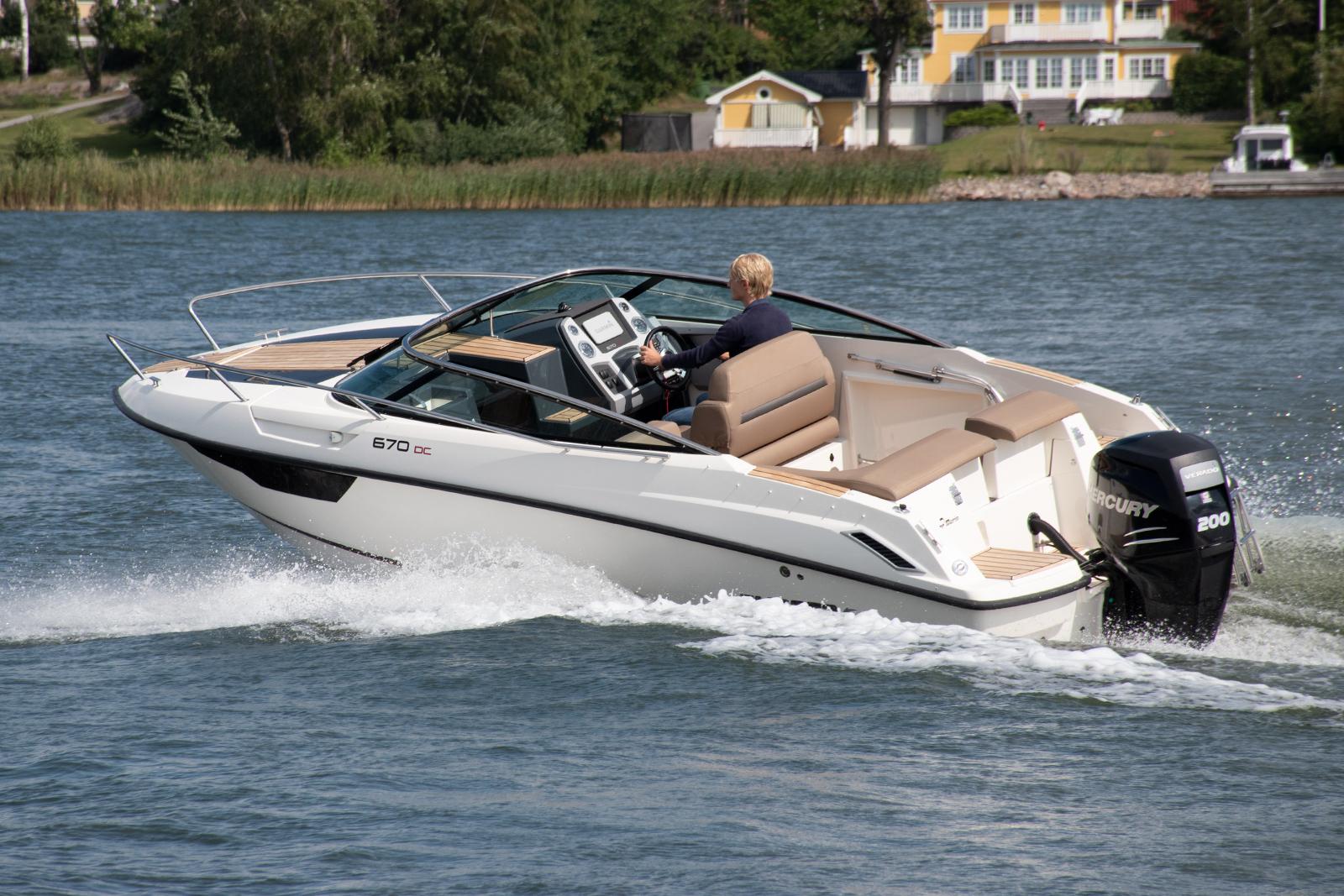 Flipper 670 DC med Mercury F200 Verado