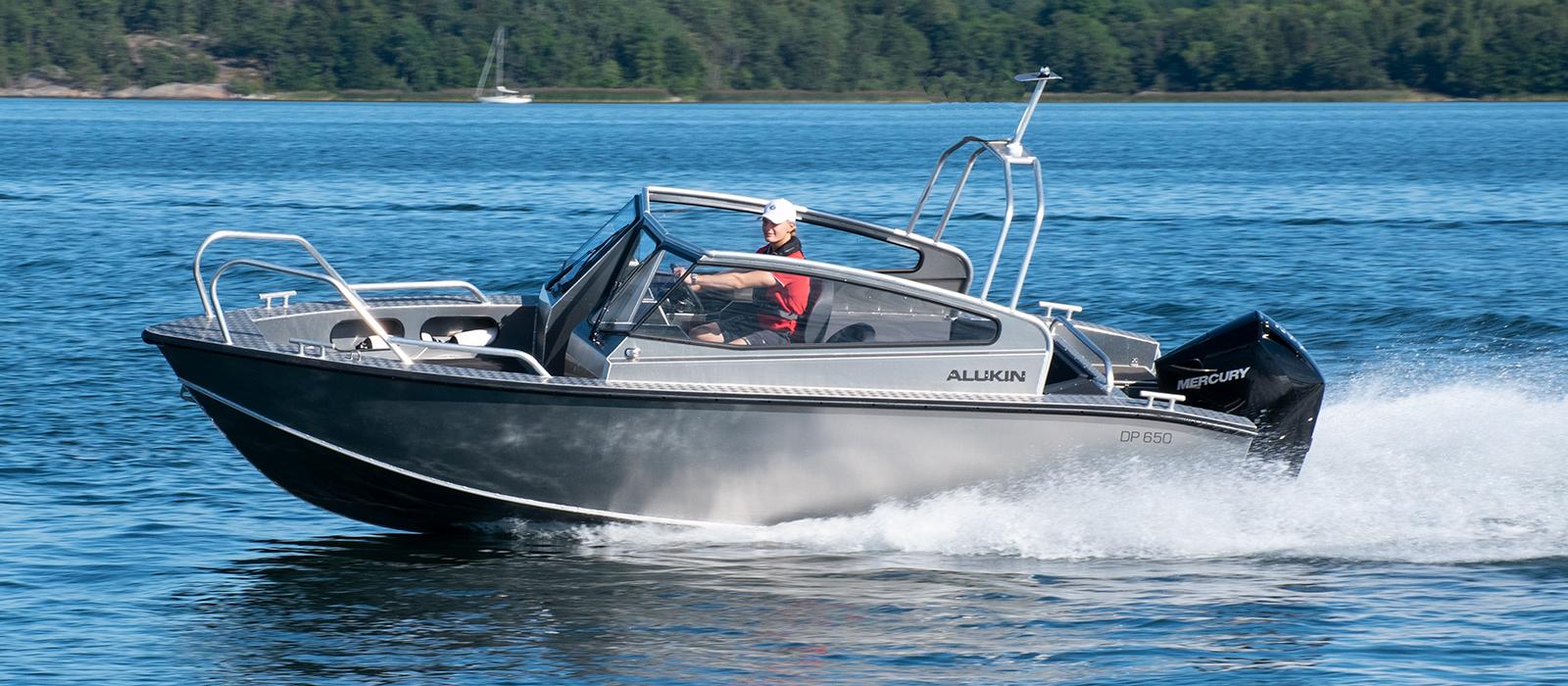 Alukin DP 650 med Mercury V6-200 hk - Testa ock provkör gärna båten hos Flipper Marin