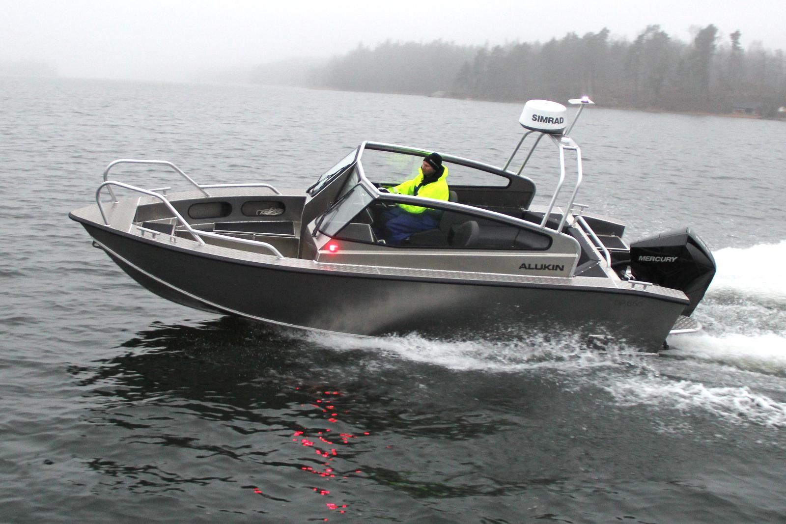 Alukin DP 650, nyhet 2020, med Mercury V6-200 hk