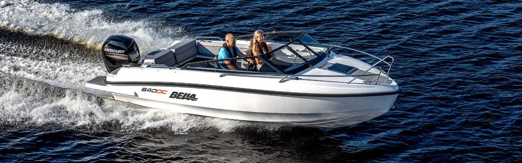 Bella 640 DC med Mercury motor - provkör motorbåt hos Flipper Marin