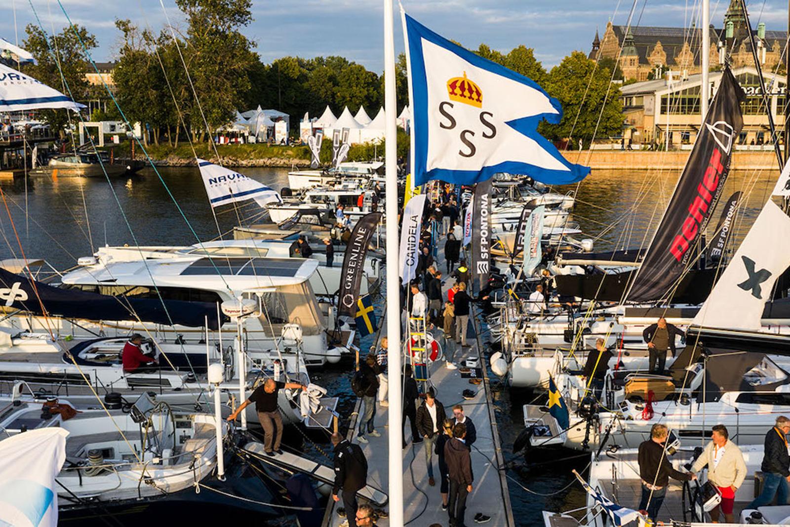 Flytande båtmässa mitt i Stockholm 2-5 september 2021
